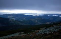 Krkonose Nationaal Park en landschap stock foto