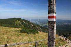 krkonose oceny góry turystyczne Zdjęcia Royalty Free