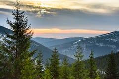 Krkonose, republika czech Fotografia Royalty Free