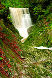 Krkonose waterfall Royalty Free Stock Images