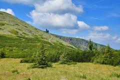 Krkonosebergen, Tsjechische Republiek, Polen Stock Afbeelding