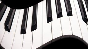 Krökt piano Arkivbild