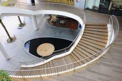 krökt trappa Fotografering för Bildbyråer