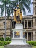 Królewiątko Kamehameha Ja statua, Ali iolani Krzepki Fotografia Royalty Free