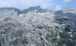 Krn山风景,朱利安阿尔卑斯山,斯洛文尼亚 免版税库存图片