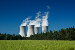 kärn- strömstation Royaltyfria Bilder