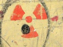 kärn- utstrålningssymbol för fara Royaltyfria Bilder