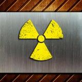 kärn- varning för bakgrundsfara Arkivfoton