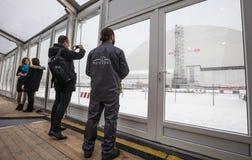 kärn- växtström för chornobyl Fotografering för Bildbyråer