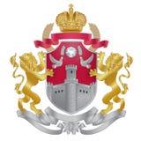Krönar den heraldiska kungliga personen för vektor vapenskölden Royaltyfri Foto