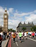 körning 2009 för 10k london Arkivfoton