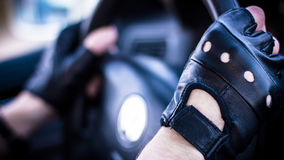 Körning av en bil Royaltyfria Foton