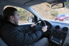 körning av mannen Royaltyfri Fotografi