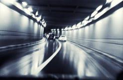 körning av natthastighet Arkivbilder