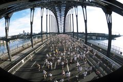 körning sydney för 01 maraton Arkivbilder