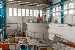 Kärnreaktor i ett vetenskapsinstitut Arkivbilder
