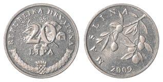 20 Kroate-lipa Münze Lizenzfreie Stockfotografie