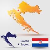 Kroatië royalty-vrije illustratie