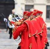 Kroatië/Eerwacht Battalion/Ceremonie royalty-vrije stock afbeeldingen