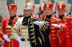 Kroatië/Eerwacht Battalion/het Marcheren royalty-vrije stock foto's