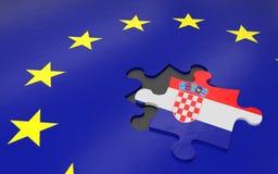 Kroatië en de EU stock illustratie