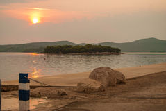 Kroatië - Jezera - Otok Skoljic royalty-vrije stock fotografie