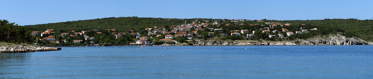 Kroatië, Kvarner, Krk-Eiland, Silostad Stock Foto's