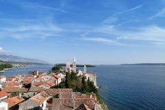 Kroatië, Rab eiland, stad Rab stock fotografie