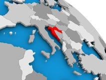 Kroatië in rood op kaart royalty-vrije illustratie