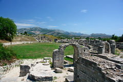 Kroatië, ruïnes, amphitheatre Stock Foto