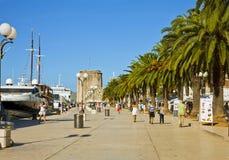 Kroatië, Trogir-overzeese promenade Stock Fotografie