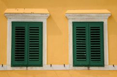 Kroatië | venster Stock Afbeeldingen