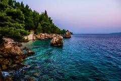 Kroatië is verbazend bij zonsondergang stock foto's