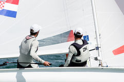 Kroatien avslutar 4th på koppen för ISAF-seglingwolden i Miami Fotografering för Bildbyråer