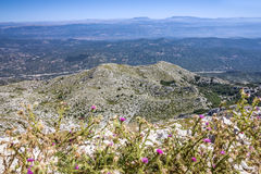 Kroatien Dalmatia, Biokovo berghav panorama- landskap Royaltyfria Bilder