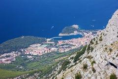 Kroatien Dalmatia, Biokovo berghav panorama- landskap Arkivbilder
