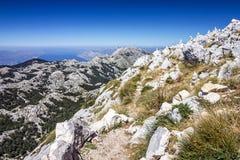Kroatien Dalmatia, Biokovo berghav panorama- landskap Royaltyfri Fotografi