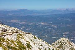 Kroatien Dalmatia, Biokovo berghav panorama- landskap Arkivfoton