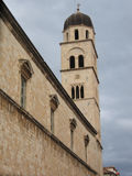 Kroatien Dubrovnik, Franciscan klostertorn, UNESCOS gamla stad Arkivbilder