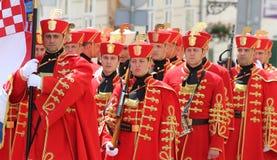 Kroatien/Ehrenwache Battalion Lizenzfreies Stockfoto