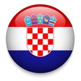Kroatien-Flaggenknopf Lizenzfreie Stockbilder