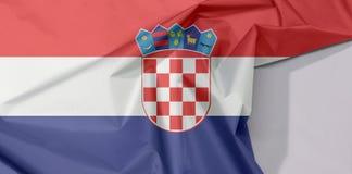 Kroatien-Gewebeflaggenkrepp und -falte mit Leerraum lizenzfreie stockbilder