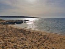Kroatien-Insel-PAG-Strandsande stockbild
