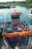 Kroatien Istria, fiskebåt Arkivbilder