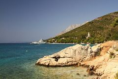 Kroatien-Küste stockbild