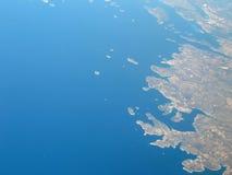 Kroatien-Küste nahe Rogoznica Stockbild