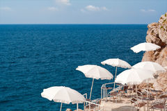 Kroatien. Küstegaststätte in Dubrovnik Stockfotografie