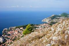 Kroatien-Küstenlinie Stockbild