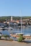 Kroatien lopp till Brac, år 2013 Arkivfoton