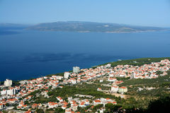 Kroatien, Makarska, Antenne konkurrieren Stockfotografie